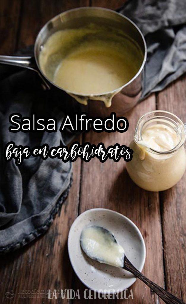 Salsa Alfredo baja en carbohidratos PIN