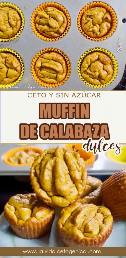 muffin de calabaza dulces pin keto