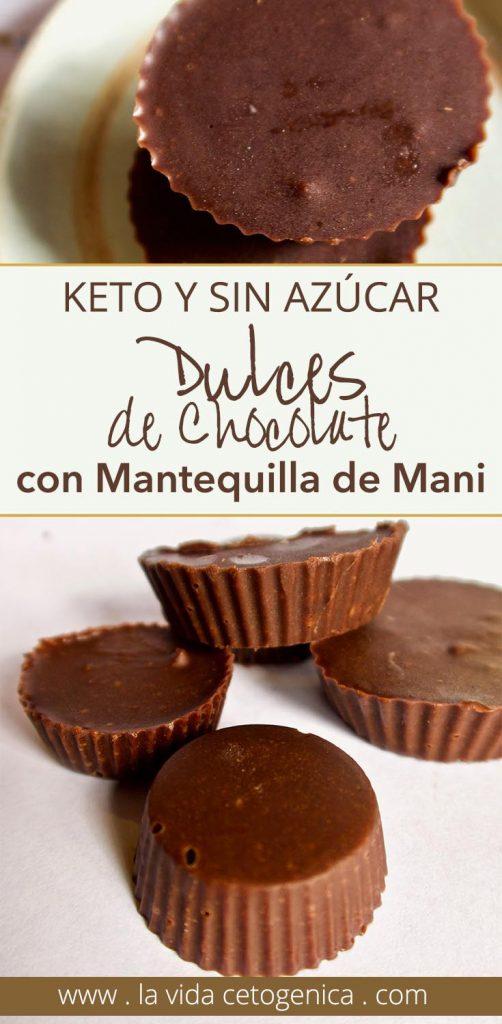 dulces de chocolate con mantequilla de mani pin
