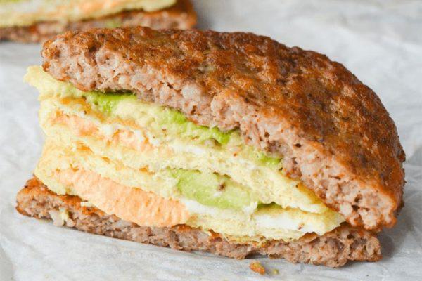 Sándwiches de Desayuno Cetogénicos 1